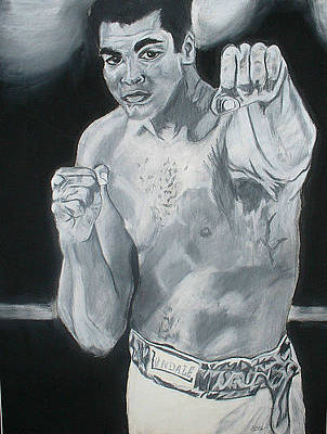 David Courson Drawing - Mohammed Ali by David Courson