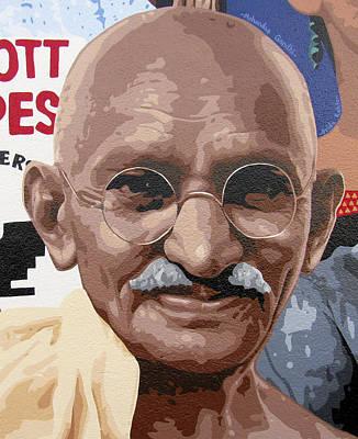 Valdes Painting - Mohandas Gandhi by Roberto Valdes Sanchez