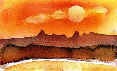 Painting - Mohavae Moon by Anne Duke