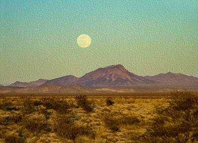 Photograph - Mohave Desert Moon by Bonnie Follett