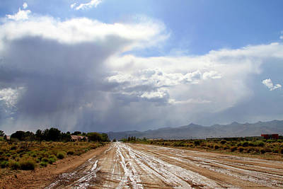 Photograph - Mohave Rain Clouds by Bonnie Follett