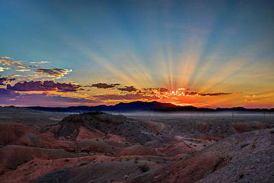 Photograph - Mohave Sunrise by Mark Dunton