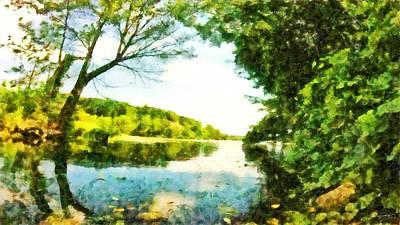 Art Print featuring the photograph Mohegan Lake By The Bridge by Derek Gedney