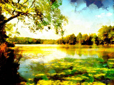 Painting - Mohegan Lake Hidden Oasis by Derek Gedney