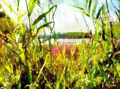 Art Print featuring the painting Mohegan Lake In The Brush by Derek Gedney