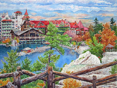 Mohonk Fall View From Cliffs Art Print by Mira Fink