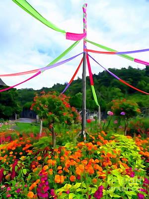 Digital Art - Mohonk Gardens #4 by Ed Weidman