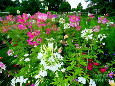 Digital Art - Mohonk Gardens #1 by Ed Weidman