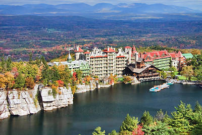 Mountain Royalty-Free and Rights-Managed Images - Mohonk Mountain House by June Marie Sobrito