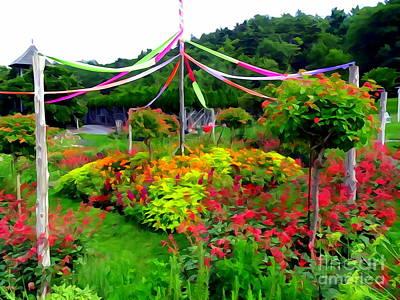 Digital Art - Mohonk Mountain House Gardens by Ed Weidman