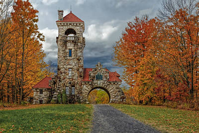 Digital Art - Mohonk Preserve Gatehouse by Susan Candelario