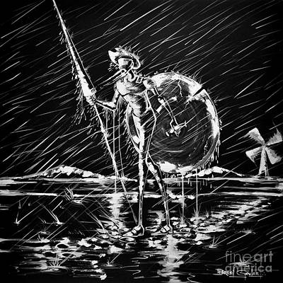 Don Quijote Painting - Moinhos De Agua by Brasil Goulart