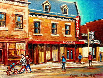 Delicatessans Painting - Moishes The Place For Steaks by Carole Spandau