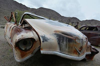 Photograph - Mojave Deserted Auto by Kyle Hanson