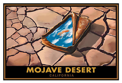 Dry Lake Painting - Mojave Dry Lake by Steve Beaumont