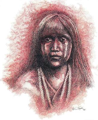 Drawing - Mojave Girl by Lawrence Tripoli