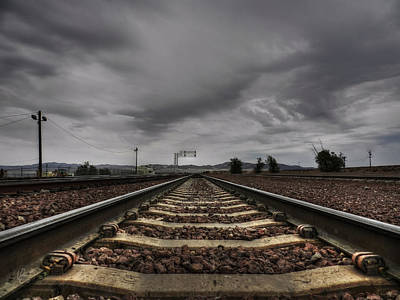 Train Tracks Photograph - Mojave Hdr 009 by Lance Vaughn