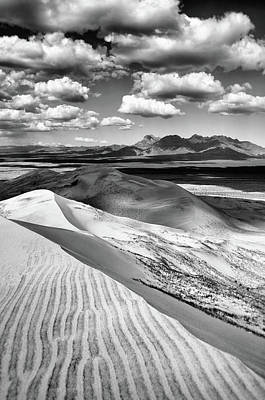 Photograph - Mojave Kelso Dunes Black And White by Kyle Hanson