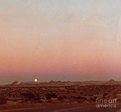 Print featuring the digital art Mojave Sunset by Walter Chamberlain