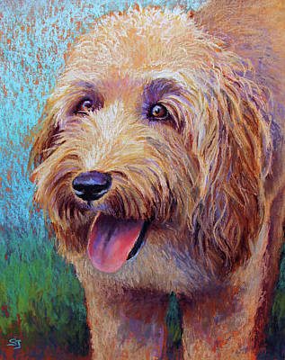 Painting - Mojo The Shaggy Dog by Susan Jenkins