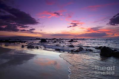 Mokapu Beach Sunset Art Print by Ron Dahlquist - Printscapes