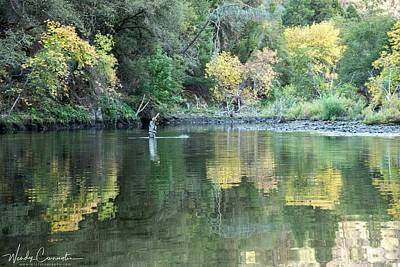 Photograph - Mokelumne River Fishing 2 by Wendy Carrington