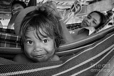 Photograph - Moken Children - Thailand by Craig Lovell