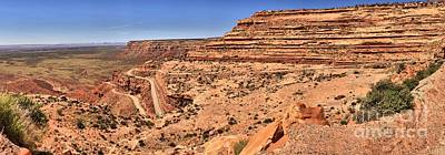 Photograph - Moki Dugway Utah Panorama by Adam Jewell