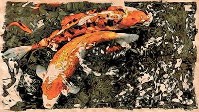 Photograph - Moku Hanga Coi by Cameron Wood