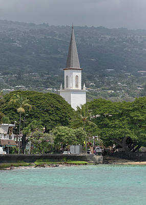 Photograph - Mokuaikaua Church Steeple by Susan Rissi Tregoning