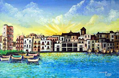 Mola Di Bari 1980 Art Print