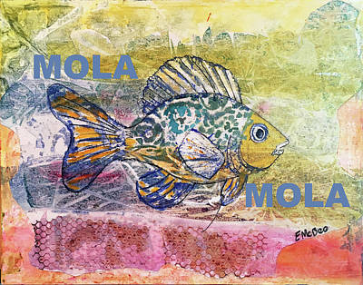 Mixed Media - Mola Mola by Edith Hardaway