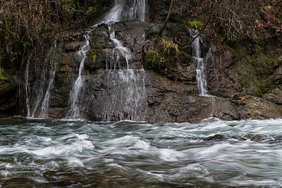 Photograph - Molalla River Cascade by Steven Clark