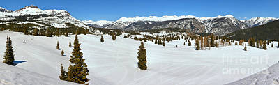 Photograph - Molas Pass Snow Panorama by Adam Jewell