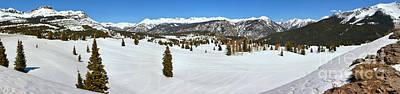 Southern Colorado Photograph - Molas Pass Winter Panorama by Adam Jewell