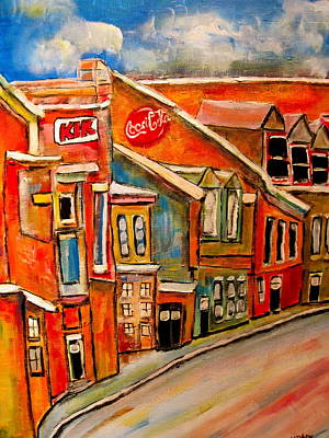 Litvack Painting - Molasses And Beer District by Michael Litvack