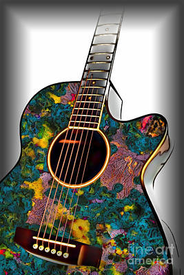 Photograph - Moldy Guitar by Walt Foegelle