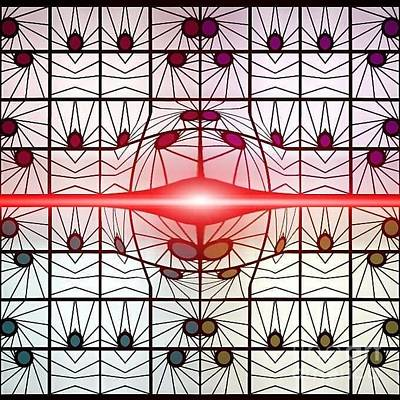 Wall Art - Digital Art - Molecule Flare by Lisa Marie Towne