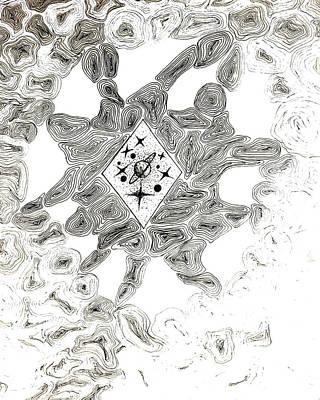 Molecule Drawing - Molecules by Gintare Kunciunaite