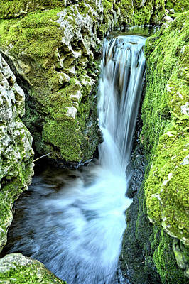 Photograph - Moine Creek Goes Vertical by Bonfire Photography