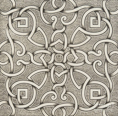 Repeat Drawing - Mollet Design For A Parterre by Andre Mollet