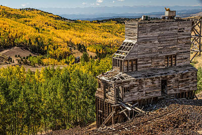 Old Gold Mine Photograph - Mollie Kathleen Gold Mine In Autumn by Dawn Key