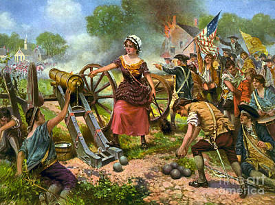 Molly Pitcher At Battle Of Monmouth Art Print by Science Source