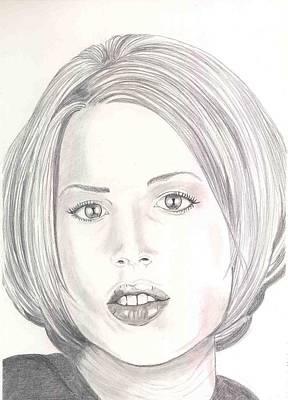Molly Drawing - Molly Ringwald by David Seter