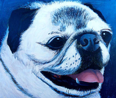 Painting - Molly The Pug by Dustin Miller