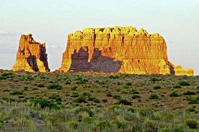 Photograph - Molly's Castle At Sunset In Goblin Valley State Park, Utah  by Ruth Hager