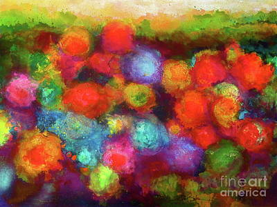 Painting - Molly's Floral Garden by Robert Birkenes