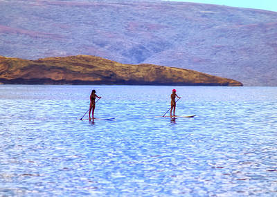 Swimsuit Photograph - Molokini Sup's by Christopher Purcell