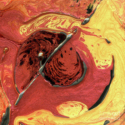 Abstract Movement Mixed Media - Molten Core by Terry McConnell