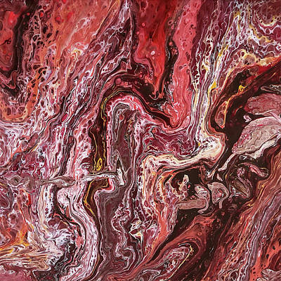 Painting - Molten Earth by Teresa Wilson